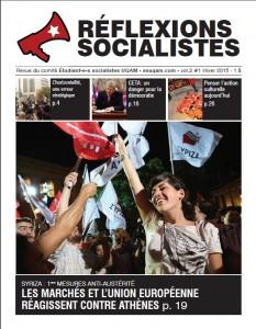 Réflexions socialistes, hiver 2015