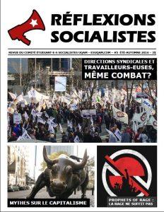 Réflexions socialistes, été-automne 2016
