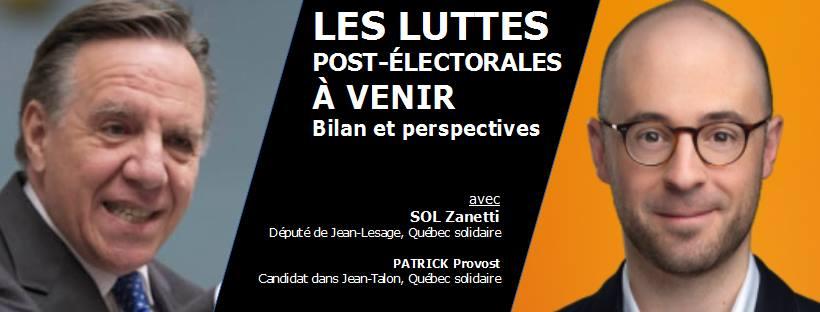 Les luttes post-électorales à venir : bilan et perspectives